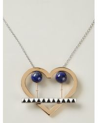Uribe | Metallic 'lou' Heart Pendant Necklace | Lyst