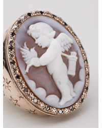 Amedeo - White Cupid Sardonyx Ring - Lyst