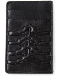 Alexander McQueen - Black Rib Cage Cardholder for Men - Lyst