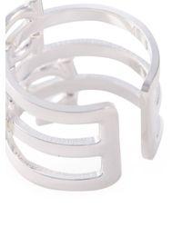 Ferragamo | Metallic Gancio Multi Band Ring | Lyst
