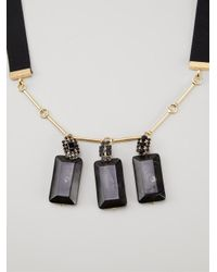 Marni | Black Faceted Pendant Necklace | Lyst