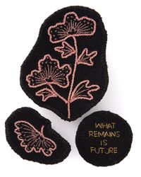 Ann Demeulemeester   Black Embroidered Brooch   Lyst