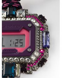 Lanvin | Pink Digital Watch Pendant | Lyst