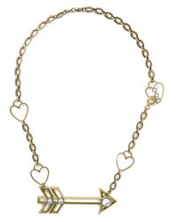 Lanvin | Metallic Arrow And Heart Necklace | Lyst