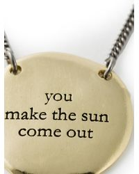 Bjorg | Metallic 'make The Sun Come Out' Necklace | Lyst