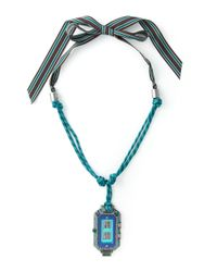 Lanvin | Blue Digital Watch Pendant Necklace | Lyst