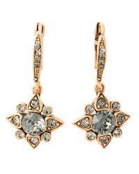 Oscar de la Renta | Gray Star Crystal Earrings | Lyst