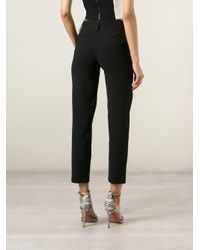 Alice + Olivia | Black 'stacey' Cropped Trousers | Lyst