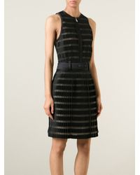 3.1 Phillip Lim | Black - Pleated Crepe Dress - Women - Silk/cotton/polyamide/wool - 8 | Lyst