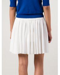 Vivienne Westwood Red Label - White - Drawstring Mini Skirt - Women - Silk/acetate - 42 - Lyst