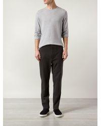 Rag & Bone - Gray Piped 'marsdon' Trousers for Men - Lyst