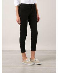 J Brand - Black Cropped Skinny Jeans - Lyst