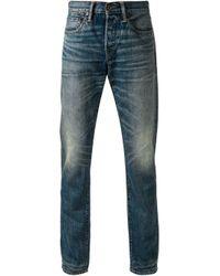 Simon Miller - Blue Faded Slim Fit Jeans for Men - Lyst