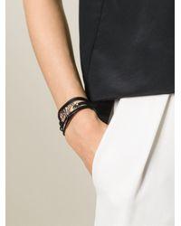 Ferragamo - Black Multi Strand Bracelet - Lyst