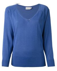 Moncler - Blue Cropped Boxy Sweater - Lyst