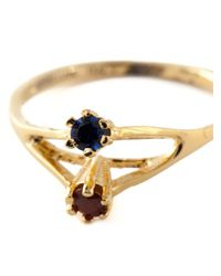 Puro Iosselliani | Metallic Saphire And Garnet Ring | Lyst