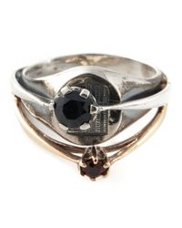 Puro Iosselliani - Metallic Signet Ring - Lyst