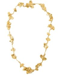 Aurelie Bidermann | Metallic Ginkgo Long Sautoir Necklace | Lyst