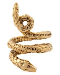 Aurelie Bidermann | Metallic 'asclepios' Snake Ring | Lyst