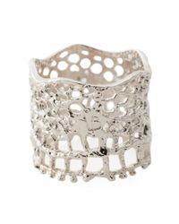 Aurelie Bidermann - Metallic 'vintage Lace' Ring - Lyst