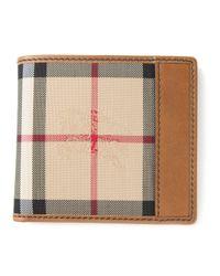 Burberry | Brown Haymarket Check Wallet for Men | Lyst