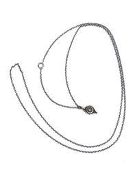Werkstatt:münchen | Metallic Werkstatt:münchen Chain Eye Necklace | Lyst