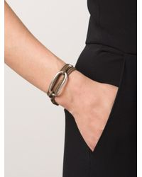 1-100 - Brown '87' Bracelet - Lyst