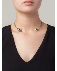 Lara Bohinc - Metallic 'eye' Choker Necklace - Lyst
