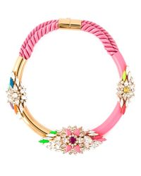 Shourouk | Pink 'zulu' Necklace | Lyst