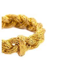Marie-hélène De Taillac - Metallic Braided Ring - Lyst