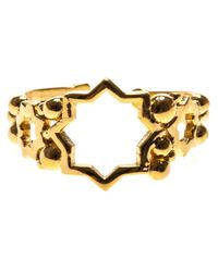 Leivan Kash | Metallic Cut Out Star Open Ring | Lyst