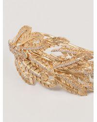 Joanna Laura Constantine - Metallic Leaves Hand Bracelet - Lyst