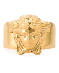 Versace | Metallic Medusa Ring for Men | Lyst