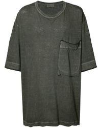 Yohji Yamamoto - Black Loose Big Ink Dye T-shirt for Men - Lyst