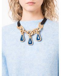 Marni - Metallic Cable Chain And Ribbon Necklace - Lyst
