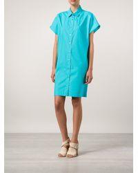Moschino - Blue - Shirt Dress - Women - Cotton - 38 - Lyst
