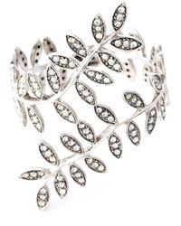 Ca&Lou | Metallic 'anne' Leaf Cuff | Lyst