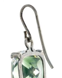 Bottega Veneta - Green Stoned Earrings - Lyst