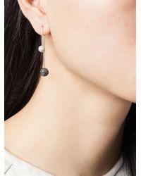 Asherali Knopfer | Black Interchangeable Diamond Bar Earring | Lyst