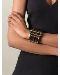 Alexander McQueen | Black Embellished Cuff | Lyst