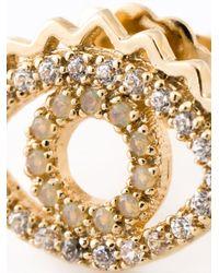 KENZO - Metallic 'eye' Earrings - Lyst