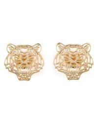 KENZO | Metallic Small 'tiger' Earrings | Lyst