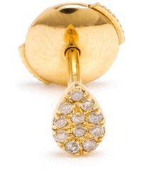 Yvonne Léon | Metallic Yvonne Léon 18kt Gold And Diamond Pear Stud Earring | Lyst