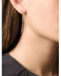 By Boe - Metallic Triangle Hoop Earring - Lyst