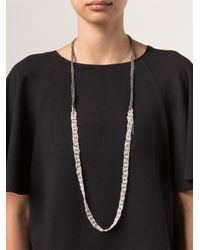 Arielle De Pinto - Black One Strand Chain Necklace - Lyst
