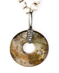 Loree Rodkin - Multicolor Diamond Stone Disc Lariat Necklace - Lyst