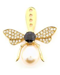 Yvonne Léon | Metallic Yvonne Léon Diamond And Sapphire Bee Earring | Lyst