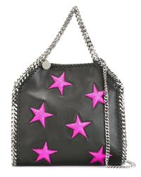Stella McCartney - Black Mini 'falabella' Star Tote - Lyst