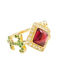 Sabine G - Metallic 18k Yellow Gold Domi Rosa Ring - Lyst