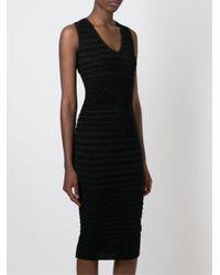 DSquared² - Black Ribbed Dress - Lyst